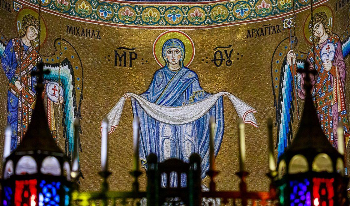 Покров Мозаика Храм в Ясенево