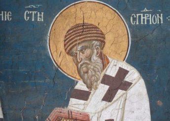 Святитель Спиридон Тримифунтский фреска