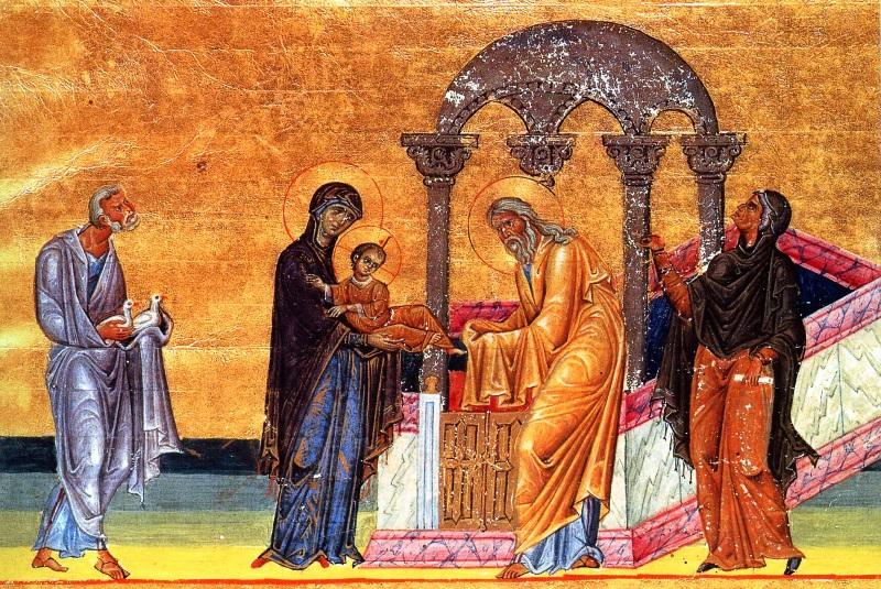 Сретение Господне Миниатюра Византия 11 век