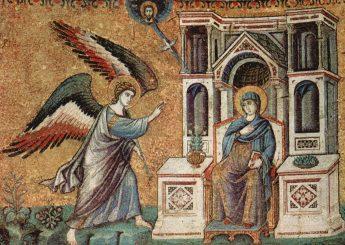Мозаика Благовещение Санта-Мария-ин-Трастевере