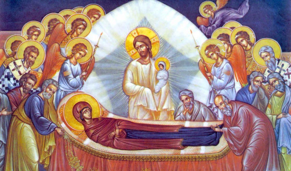 Фреска Успение Пресвятой Богородицы